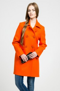 Orange cashmere coat