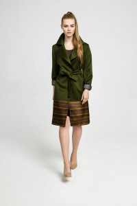 Green cashmere coat