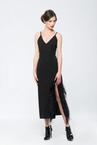 Long black dress for a wedding