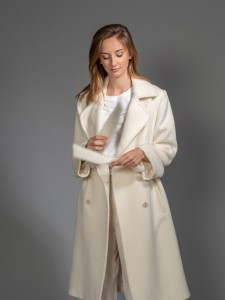 Vanilla alpaca wool coat